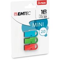 EMTEC USB kľúč D250, Balenie 3 x 16 GB