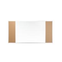 2x3 trojnásobne kombinovaná magnetická mobilná tabuľa, 100x150 cm