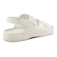 LAMBDA SPARTA OB Sandále so zadným pásikom, veľkosť 43, farba biela