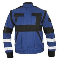 Montérková bunda REFLEX, veľkosť 52, farba modrá/ čierna