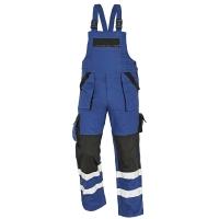 Nohavice s náprsenkou REFLEX, veľkosť 56, farba modrá/ čierna