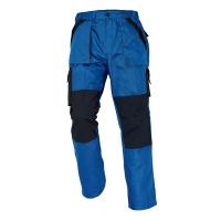 Pánske montérkové nohavice do pása ČERVA MAX, veľkosť 48, modro-čierne