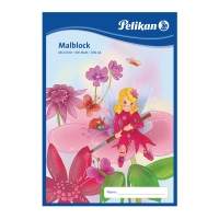 Maliarsky blok Pelikan  A4/100 listov, 70 g/m2, lepený, čistý, mix motívov