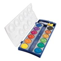 Vodové farby Pelikan k12 - vysoká kvalita farebného pigmentu, 12 farieb + beloba