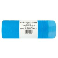 Zaväzovacie odpadové vrecia modré 35 l, balenie 30 kusov