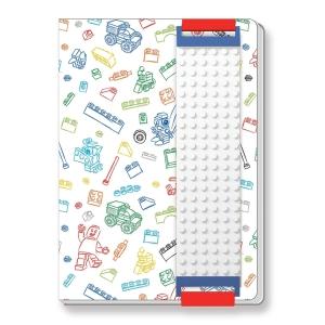 Zápisník Lego Stationary, A5 96 strán, biely
