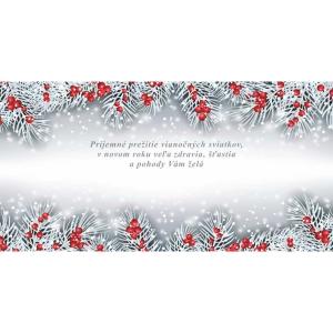 Novoročné prianie, 20x10 cm