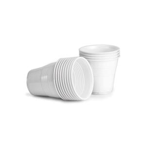Plastové poháre biele 80 ml, 100 kusov