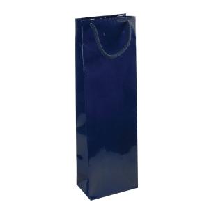 Papierová taška na víno NATALY, modrá