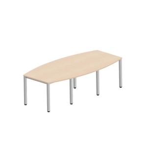 Veľký konferenčný stôl Easy Style Nowy Styl, 8 nôh, 240x120x72 cm, svetlý piesok