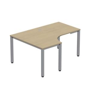 Pracovný stôl v tvare L - ľavý Easy Space, 120x180x60x80cm, svetlý piesok