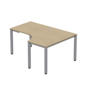 Pracovný stôl v tvare L - pravý Easy Space, 120x180x60x80cm, svetlý piesok
