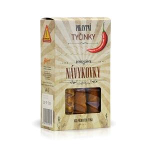 Slané tyčinky Návykovky v krabičke 100g chilli