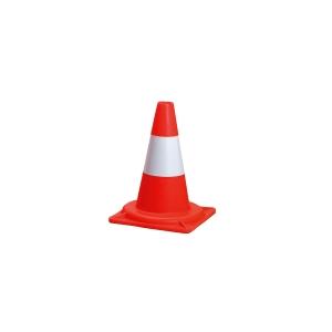 Výstražný kužeľ, 30 cm, červeno-biely