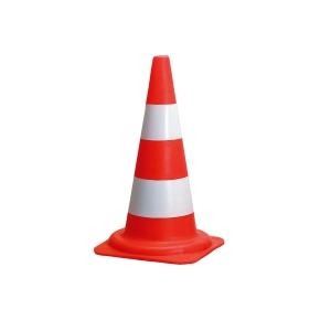 Výstražný kužeľ, 54 cm, červeno-biely