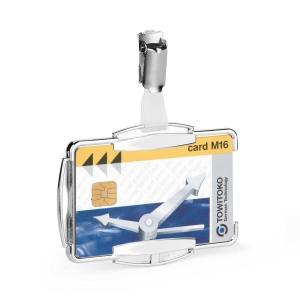 Priehľadný držiak s RFID ochranou, rozmery 54 x 87 mm, ochrana 13,56 MHz