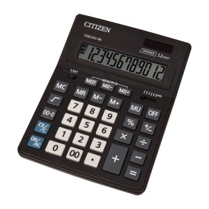 Stolová kalkulačka CITIZEN CDB1201 Business Line čierna, 12-miestna