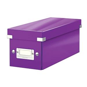 Krabica na CD Leitz Click&Store, purpurová
