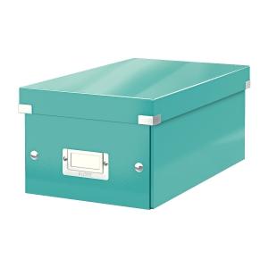 Krabica na DVD Leitz Click&Store, ľadovo modrá