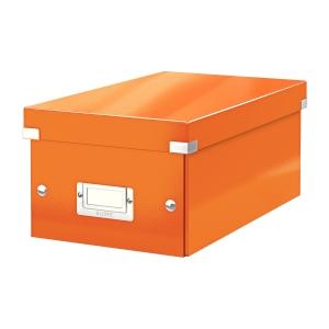 Krabica na DVD Leitz Click&Store, oranžová