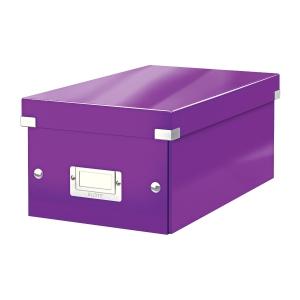 Krabica na DVD Leitz Click&Store, purpurová