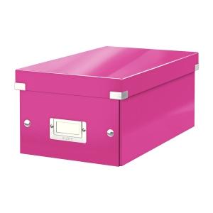 Krabica na DVD Leitz Click&Store, ružová