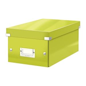 Krabica na DVD Leitz Click&Store, zelená