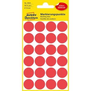 Avery 3004 okrúhle etikety 18mm červené