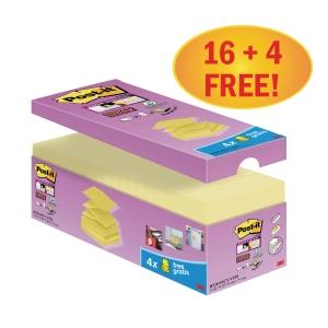 Náplne Z-bločky Post-it® Super Sticky 76 x 76 mm, kanárikovo žltá