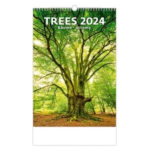 Stromy - mesačné medzinárodné kalendárium, 14 listov, 31,5 x 45 cm