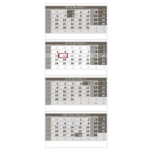 Štvormesačný kalendár so špirálou - 3 x 12 listov, 31,5 x 76,5 cm