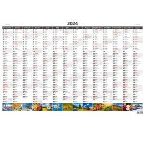 Plánovacia ročná mapa A1 obrázková, slovenské kalendárium, 1 list, 88 x 64 cm