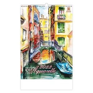 Provence - mesačné medzinárodné kalendárium, 14 listov + samolepky, 30 x 30 cm