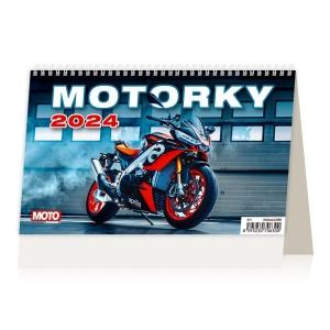 Motorky - české/slovenské týždenné riadkové kalendárium, 58 + 2 strán