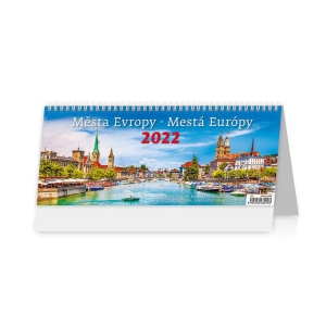 Mestá Európy - české/slovenské týždenné stĺpcové kalendárium, 60 + 2 strán