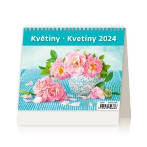 MiniMax Kvetiny - české/slovenské týždenné riadkové kalendárium, 56 + 2 strán