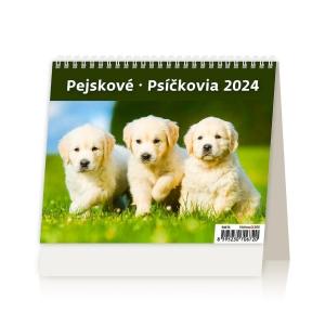 MiniMax Psíčkovia - české/slovenské týždenné riadkové kalendárium, 56 + 2 strán