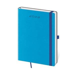 Diár denný A5 Flexies - modrý, 14,3 x 20,5 cm, 352 strán