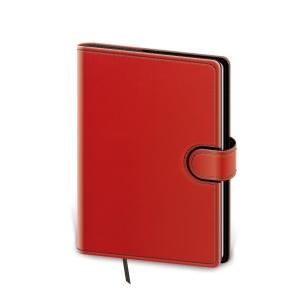 Diár denný A5 Flip - červeno/čierny, 14,3 x 20,5 cm, 352 strán
