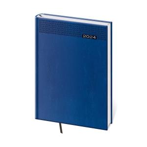 Diár denný A5 Gommato - modrý, 14,3 x 20,5 cm, 352 strán