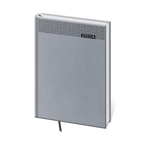 Diár denný A5 Gommato - šedý, 14,3 x 20,5 cm, 352 strán