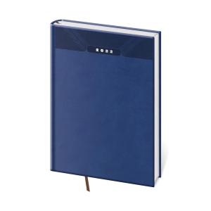 Diár denný A5 Print - modrý, 14,3 x 20,5 cm, 352 strán