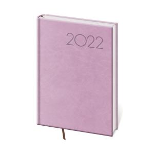 Diár denný A5 Print - fialový, 14,3 x 20,5 cm, 352 strán