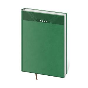 Diár denný A5 Print - zelený, 14,3 x 20,5 cm, 352 strán