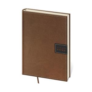 Diár týždenný A5 Toledo - hnedý, 14,3 x 20,5 cm, 128 strán