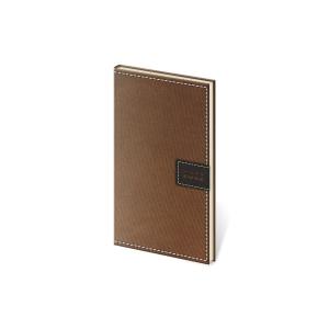 Diár týždenný vreckový Toledo - hnedý, 8 x 15 cm, 128 strán