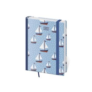 Diár týždenný A5 Vario Blue - 14,3 x 20,5 cm, 128 strán