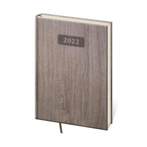 Diár denný A5 Wood - tmavohnedý, 14,3 x 20,5 cm, 352 strán