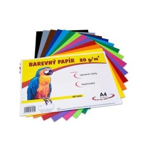 Farebný papier A4 80 g/m², 12 farieb, balenie 60 listov
