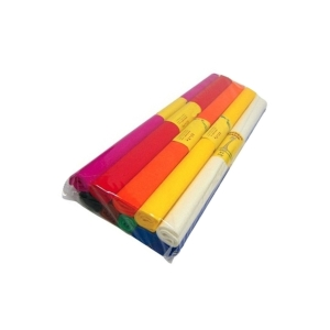 Krepový papier 0,5 x 2 m, mix 10 farieb, balenie 10 kusov